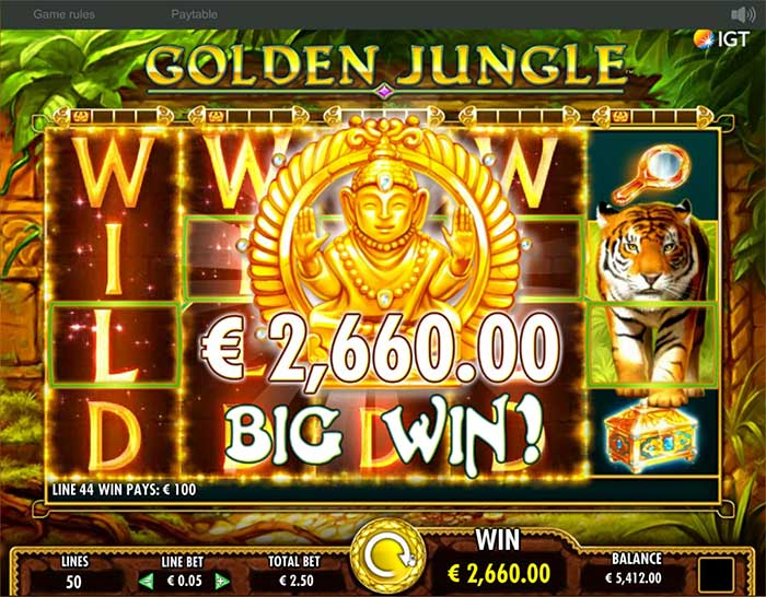 Golden Jungle Slot big win
