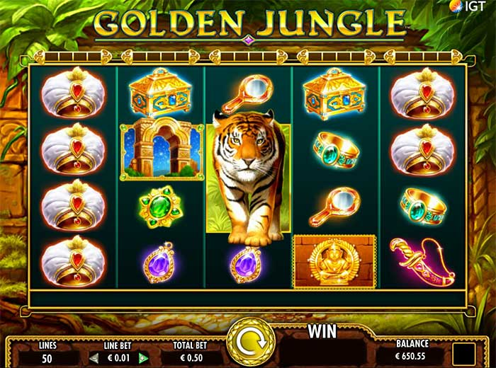 Golden Jungle Slot base game