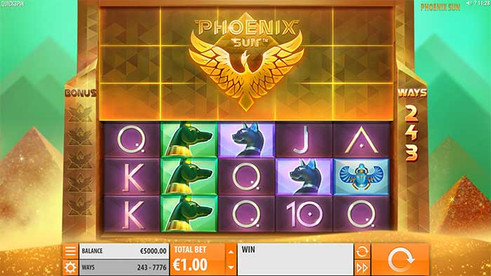 Phoenix Rising Slot base game