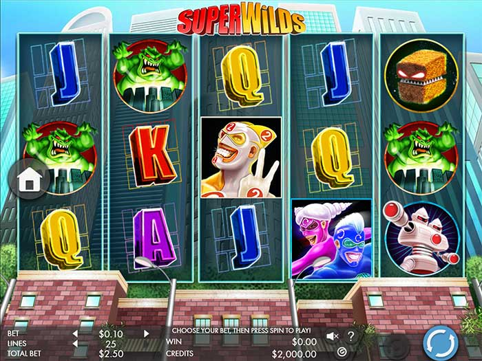 SuperWilds Slot base game
