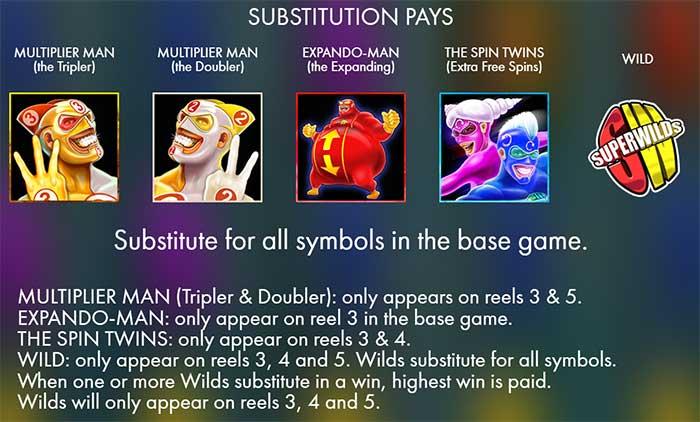 SuperWilds Slot bonus features