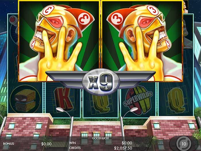 SuperWilds Slot - Multiplier free spins bonus round