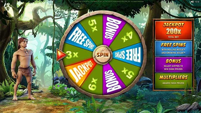 Tarzan Slot Free Spins Trigger