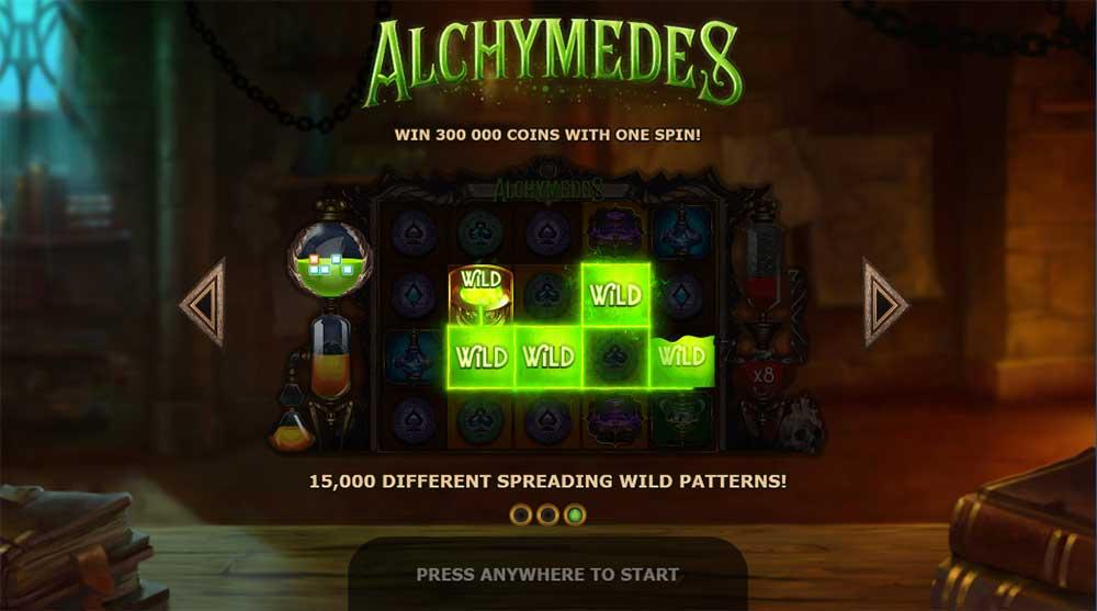Alchymedes Slot - Intro Screen