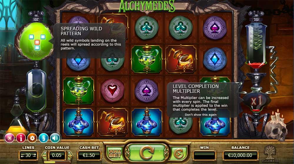 Alchymedes Slot - Base Game