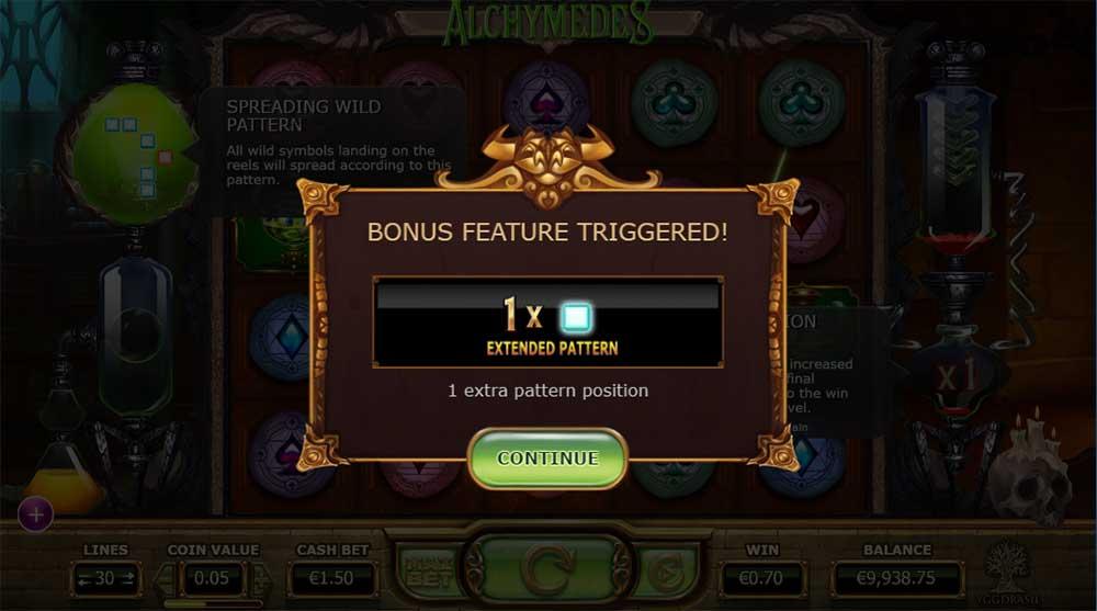 Alchymedes Slot - Random Bonus Screen