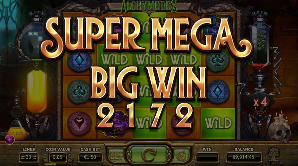 Alchymedes Slot - Super Mega Big Win