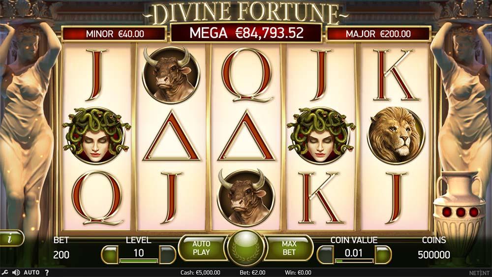 Divine Fortune Slot - Base Gameplay