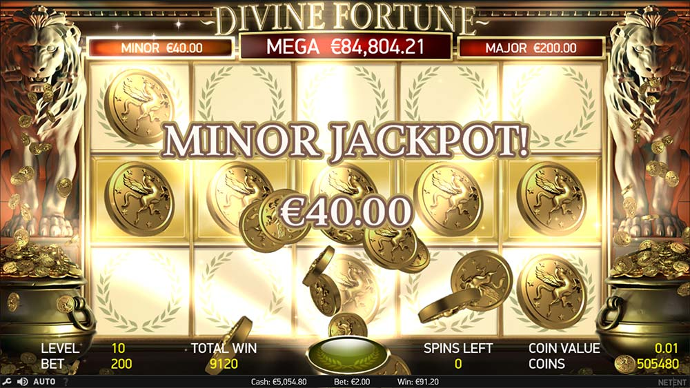 Divine Fortune Slot - Minor Jackpot