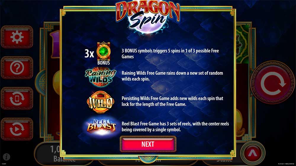 Dragon Spins Slot - Bonus Rounds