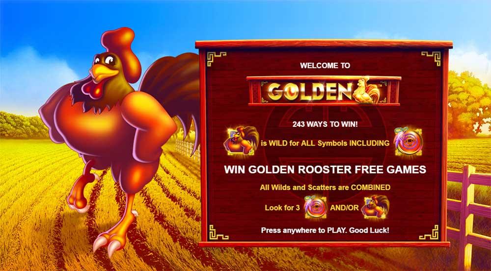 Golden Slot - Intro Screen