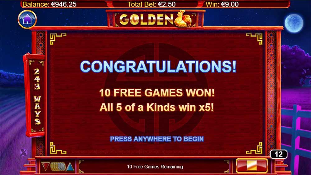 Golden Slot - Free Spins