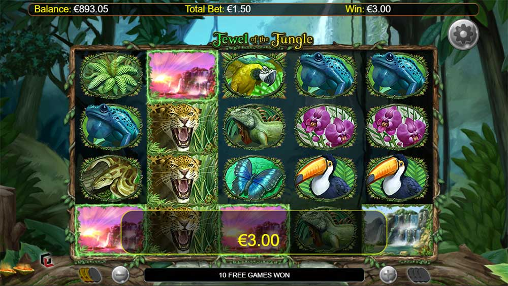 Jewel of the Jungle - Free Spins Trigger
