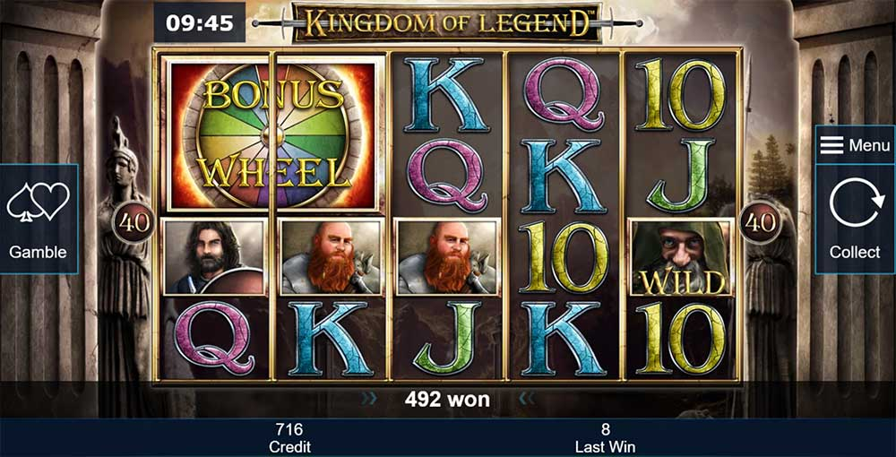 Kingdom of Legend Slot - Bonus Wheel Trigger