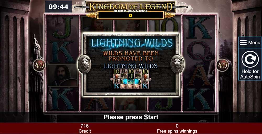 Kingdom of Legend Slot - Lightning Wilds