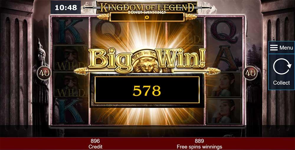 Kingdom of Legend Slot - Big Win