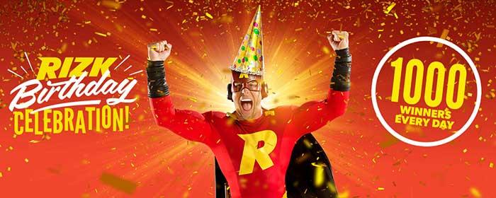 Rizk Casino Birthday Promotions