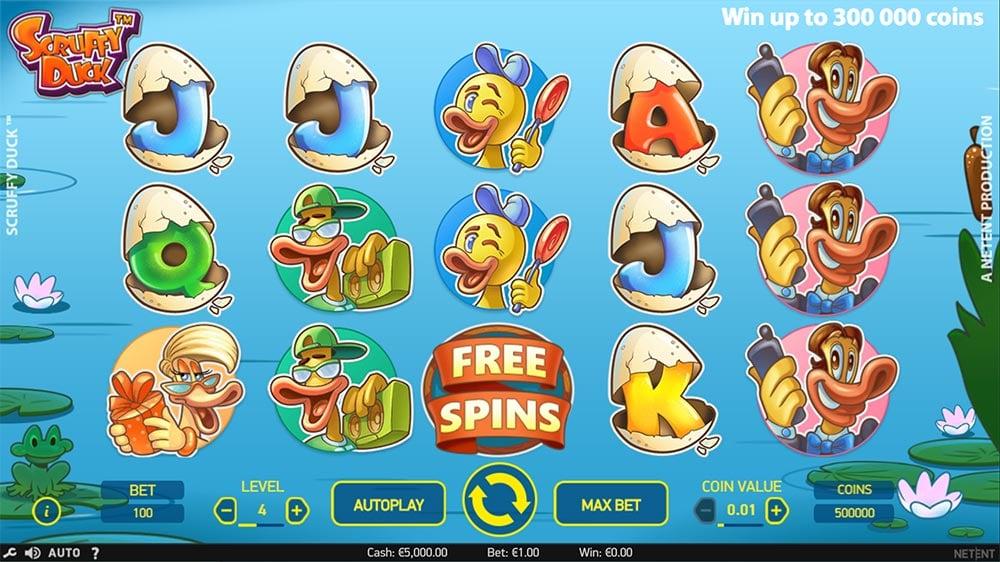 Scruffy Duck Slot - Base Gameplay