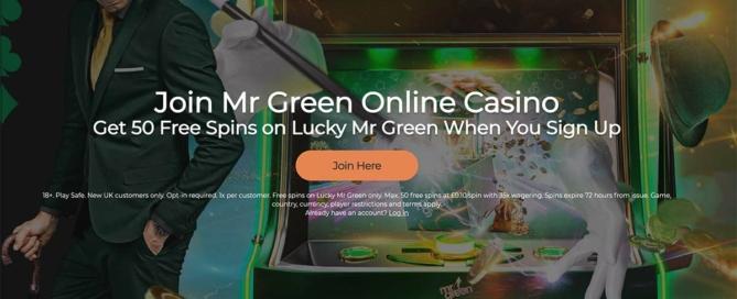 50 Free Spins No Deposit Mr Green Casino