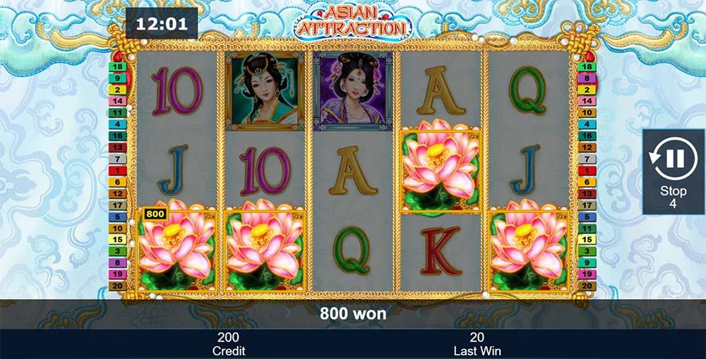 Asian Attraction Slot - Scatter Bonus Trigger