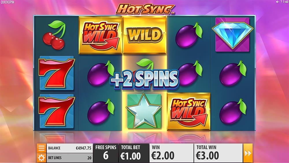 Hot Sync Slot - Bonus Re-Spins