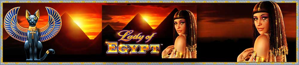 Lady of Egypt Slot Logo