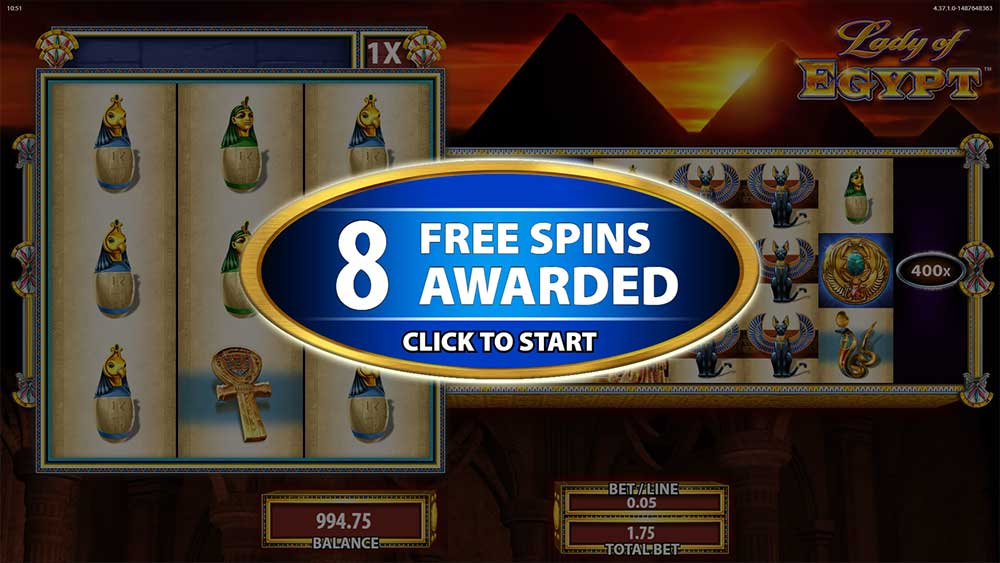 Lady of Egypt - Free Spins