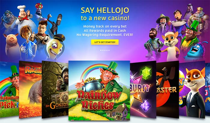 PlayOJO Welcome Screen