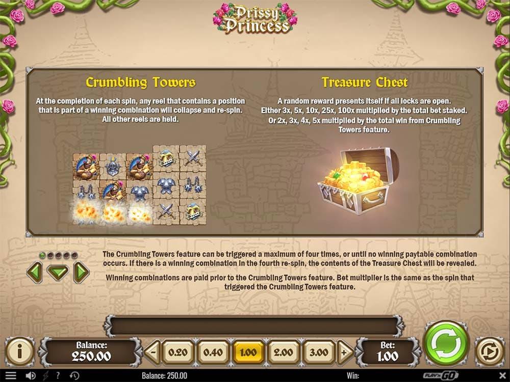 Prissy Princess Slot - Bonus Features