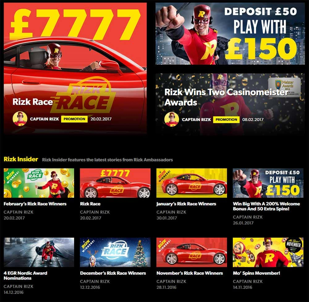 Rizk Casino - Current Promotions
