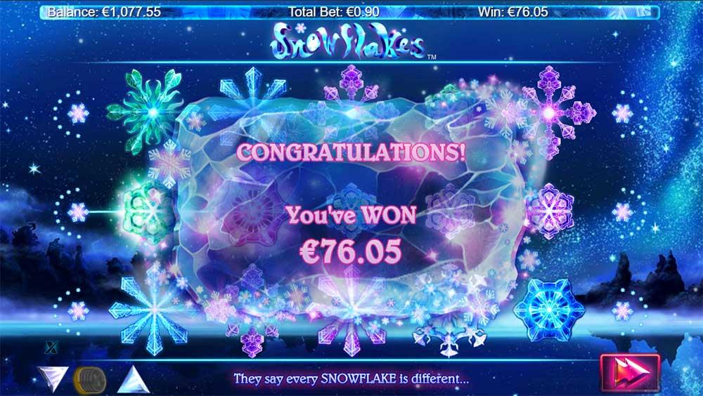 Snowflakes Slot - Bonus Round End