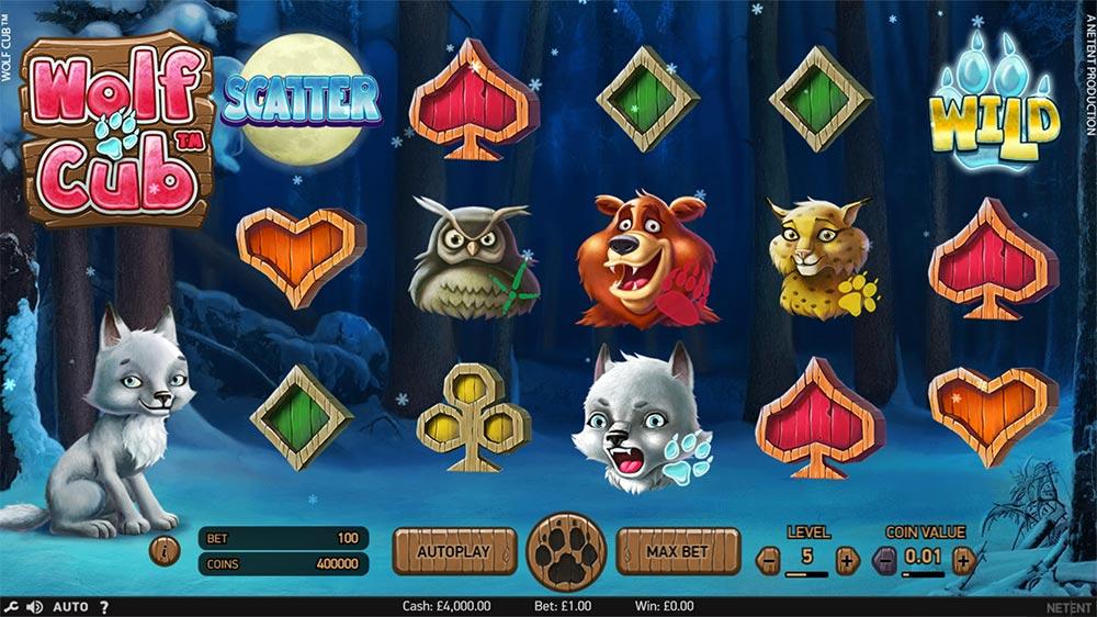 Wolf Cub Slot - Intro Screen
