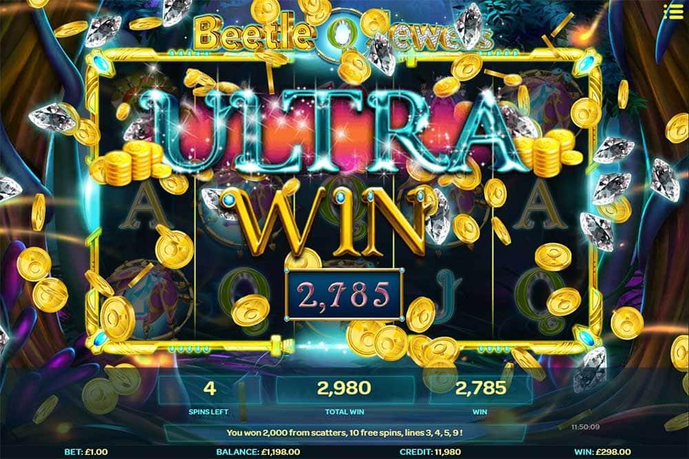 Beetle Jewels Slot - Ultra Big Win