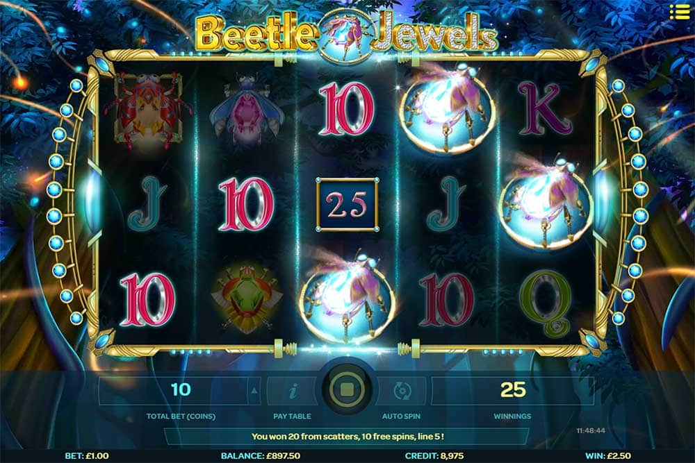 Beetle Jewels Slot - Free Spins Trigger