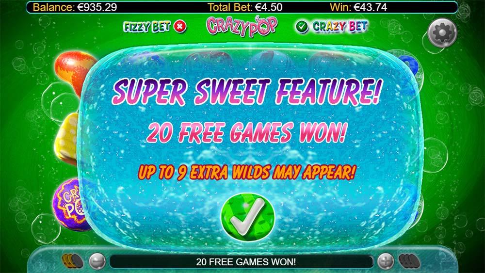 Crazy Pop Slot - Super Sweet Free Spins