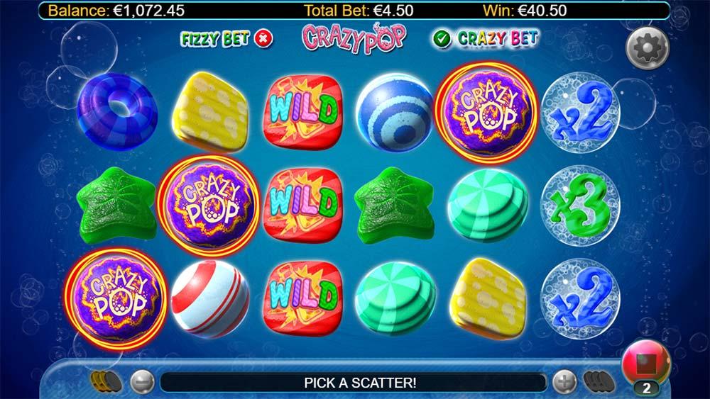 Crazy Pop Slot - Bonus Trigger