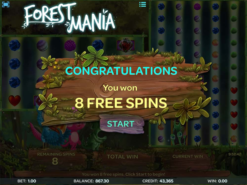 Forest Mania - Free Spins
