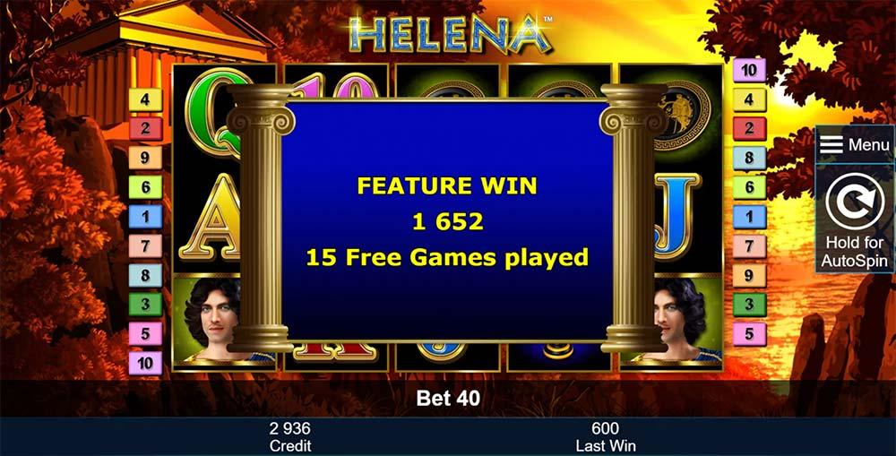Helena Slot - Feature End