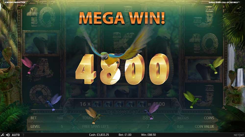 Jungle Spirit Slot - Mega Win