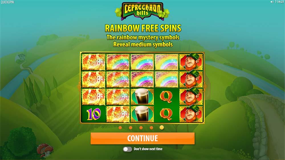 Leprechaun Hills Slot - Intro Screen