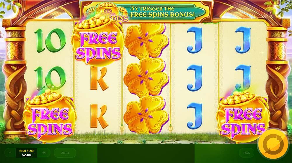 Rainbow Jackpots - Free Spins Trigger