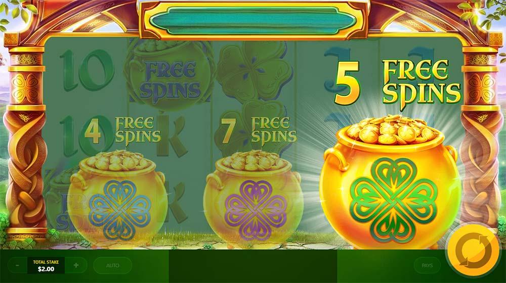 Rainbow Jackpots - Free Spins Picking Round