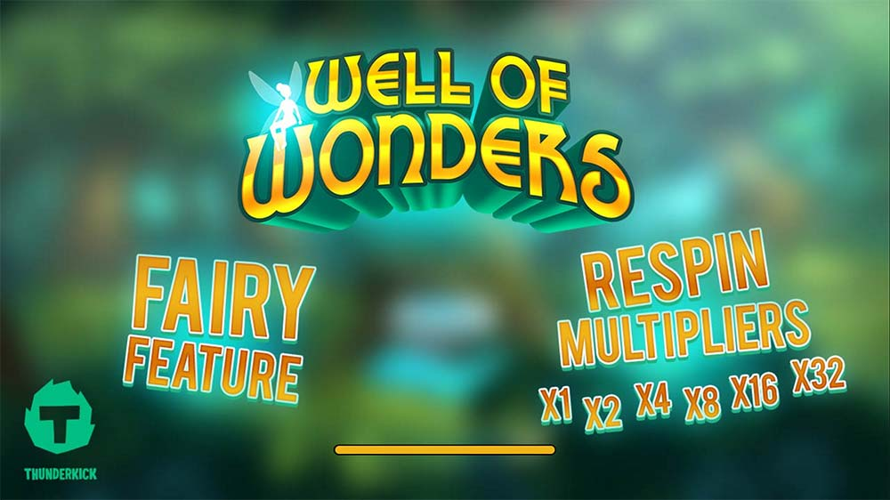 Well of Wonders Slot - Intro Screen