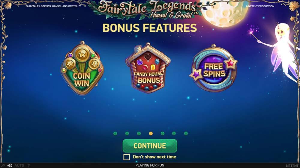 Fairytale Legends - Hansel & Gretel Slot - Intro Screen