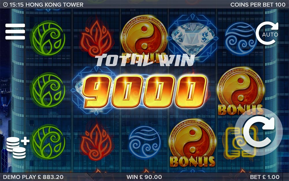 Hong Kong Tower Slot - Bonus End Result