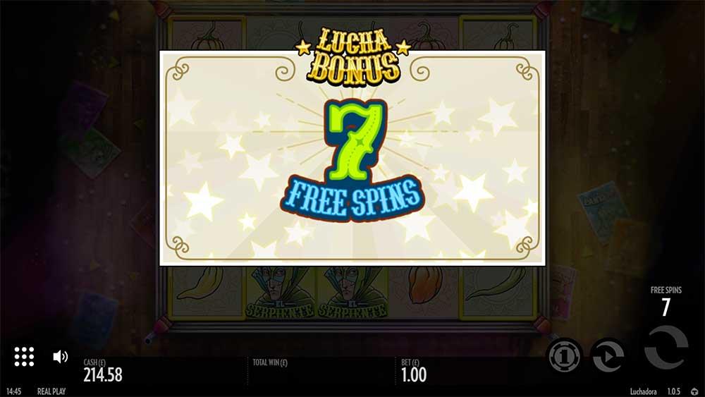 Luchadora Slot - Free Spins