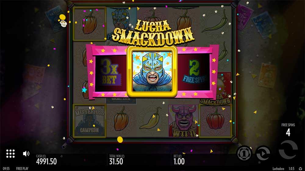 Luchadora Slot - Lucha Smackdown Bonus in Free Spins