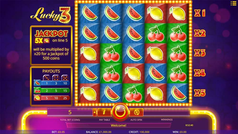 Lucky 3 Slot - Base Game