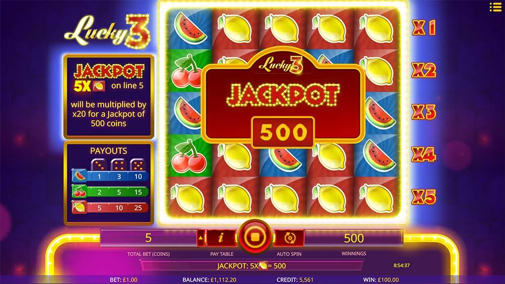 Lucky 3 Slot - Jackpot Win
