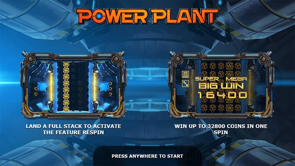 Power Plant Slot - Intro Screen